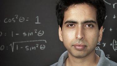 """A free world-class education for anyone, anywhere"": Khan Academy founder Salman Khan."