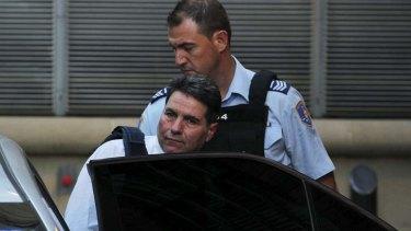 Tough day in court: Lucky Gattellari.