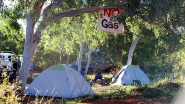 The protest camp at James Price Point where Phil Roe spent four years.