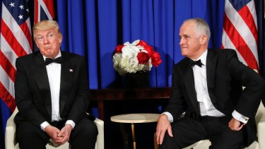 Turnbull and Trump's first phone call ended abruptly.