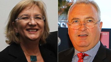 Stepping down ... Amanda Wilson and Peter Fray.