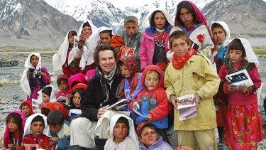 Inspirational ... Greg Mortenson with Afghan children.