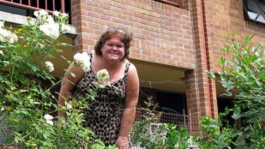 Lanette Vardy, smelling the roses at 139 Club in Fortitude Valley.