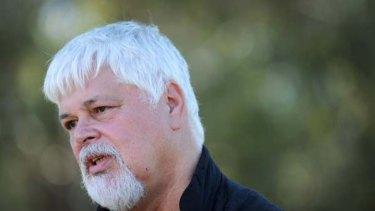 The Sea Shepherd leader, Paul Watson.