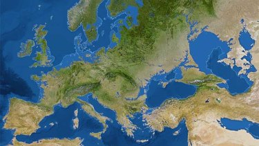 Europe in an ice-free world.