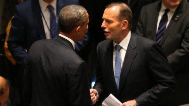 President Obama meets Australian PM Tony Abbott in New York.