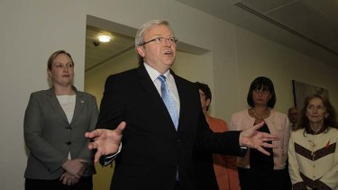 "Kevin Rudd ... ""There are no circumstances under which I will return to the Labor Party leadership in the future."""
