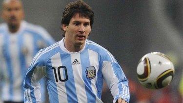 Argentina's forward Lionel Messi.