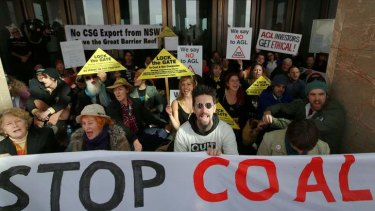 Warning on new regulations: a protest against coal seam gas.