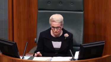 Speaker Bronwyn Bishop during question time on Monday.