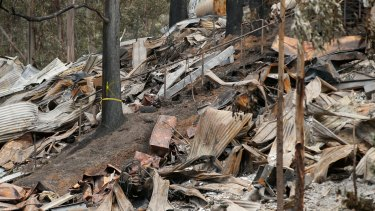 Damage wrought: homes destroyed by the Christmas Day bushfires in Separation Creek.