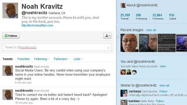 Noah Kravitz's Twitter account.