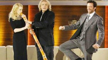 Breaking tradition - Nicole Kidman playing the didgeridoo.
