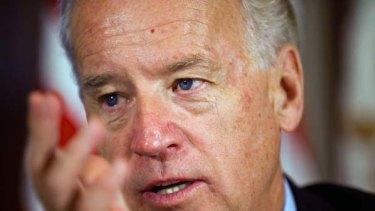 Outspoken ... US Vice-President Joe Biden.