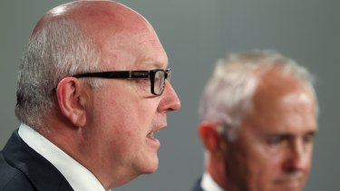 Attorney-General George Brandis with Prime Minister Malcolm Turnbull.