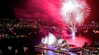 World renowned: Sydney's 9pm fireworks did not fall short of expectation.