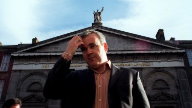 Secret weapon: Colm O'Gorman outside St Andrew's Church in Dublin.