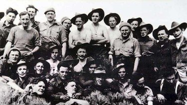Some of the Australian soldiers who fought in Kapyong.
