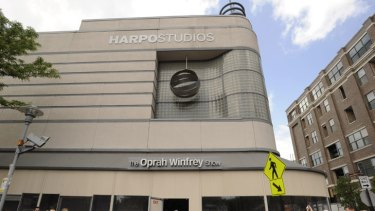 Farewell ... fans wait outside Harpo Studios before the taping of the final Oprah Winfrey Show.