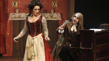 Antoinette Halloran and Kanen Breen in Victorian Opera's <i>Sweeney Todd</i>.