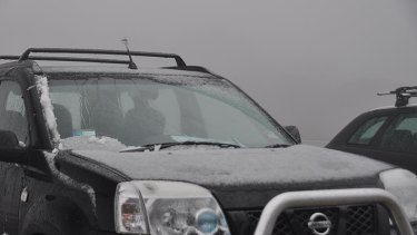 Dust-up ... Snow at Mount Hotham this morning.