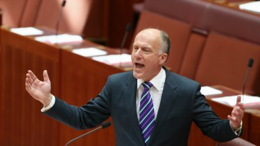 Senate's most vocal opponent of marriage equality, Eric Abetz.