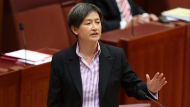 Loved drama: Labor senator Penny Wong hated school.