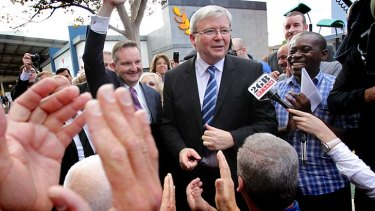 Picture of positivity: Kevin Rudd's new strategy aims to distance him from negative politics.