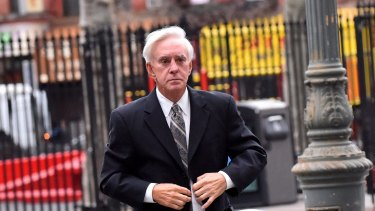 Billy Walters as he arrived at federal court in New York on Friday.