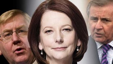 The group Bob Ellis dubs The Mouse Pack ... Julia Gillard, Martin Ferguson and Simon Crean.