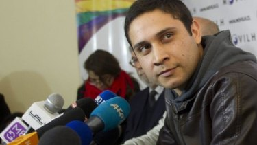 Mauricio Ruiz at a press conference in Santiago on Wednesday.