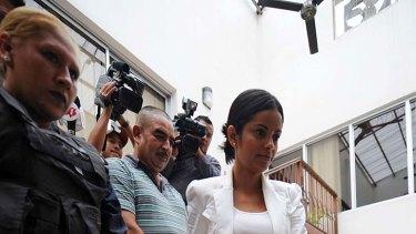 Not guilty ... Former Miss Honduras, Belgica Nataly Suarez.