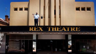 A long intermission: Charlton's landmark Rex Theatre is poised to open its doors to the public again after being almost destroyed in last year's floods.