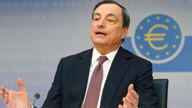 On the back foot: ECB president Mario Draghi.