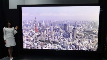 The 145-inch Panasonic Plasma Panel.