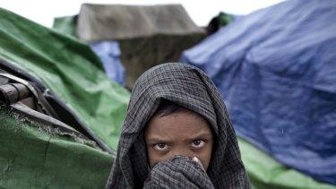A Rohingya in Western Rakhine state, Myanmar.
