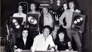 Glory days: John Bromell with Cold Chisel, one of the many successful bands he helped sign.