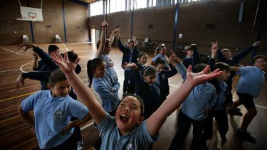 Dandenong South Primary School students get into the music of The Song Room.