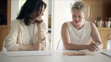 Ms McDonald with Lisa Wilkinson .