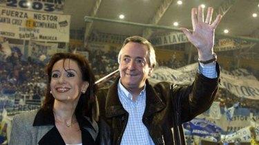 Nestor Kirchner and Cristina Fernandez de Kirchner