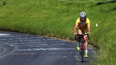 Out of the time trial ... Cadel Evans.