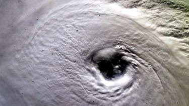 The eye of  a hurricane ... this is Ivan, which devastated Grenada in 2004, pictured from the International space station.