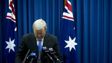 Warned ... Kevin Rudd allegedly told nuclear power would be needed.