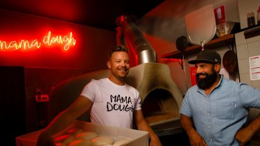 Mama Dough manager Wes Heincke and owner Frank Condi.