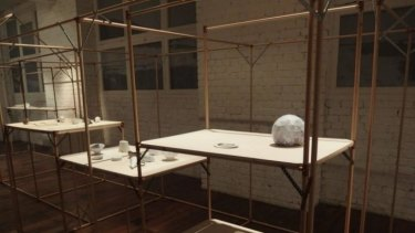 Kirsten Haydon's exhibition <i>Ice Storeroom</i> at Craft Victoria.