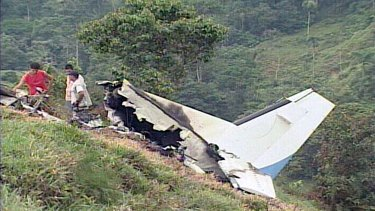 A US government plane that was shot down in Colombia in 2003.