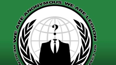 Logo ... hacker group, Anonymous.