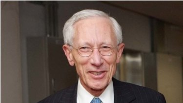 Mirrored acts ... Israel's central bank governor Stanley Fischer.