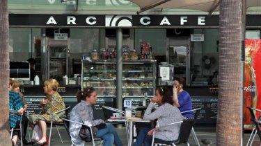 No eftpos income: Arc Cafe at Circular Quay.