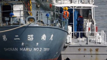 On board ... the three Australians who jumped on to Shonan Maru, a Japanese whaling security ship, are most likely headed forJapan, says Attorney-General Nicola Roxon.